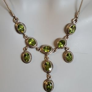 Pave Jewellers silver & peridot necklace